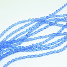 50pcs 5x3mm Light blue Faceted Teardrop crystal glass Jade Spacer beads/*