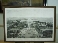 ASPECT DE GENERAL DE VERSAILLES  RARE c 1800s CHARDON ETCHING STEEL ENGRAVING