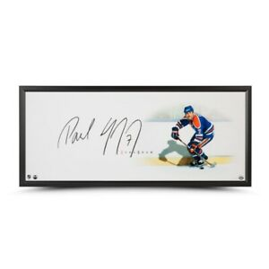 Paul Coffey Signed Autographed 20X46 Framed Photo The Show Edmonton Oilers UDA