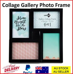 Collage Photo Picture Frames Frame Family Kids Holiday Display Wall Table Black