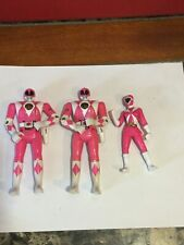 Vintage Lot Of 3 Mighty Morphin Power Rangers Pink Rangers Action Figures