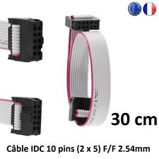 Nappe Câble ruban plat IDC 2.54 mm F/F 10Pin (2x5) 28AWG Imprimante 3D, Pc 30cm