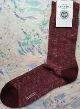 Pantherella for Cheaney Men's English Cotton Socks Mulberry Fleck Large UK 10-12
