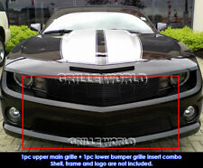 Fits 2010-2013 Chevy Camaro SS V8 Black Billet Grille Combo Insert