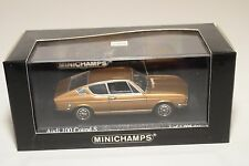 . MINICHAMPS AUDI 100 COUPE S 1969 METALLIC GOLD MINT BOXED RARE SELTEN RARO