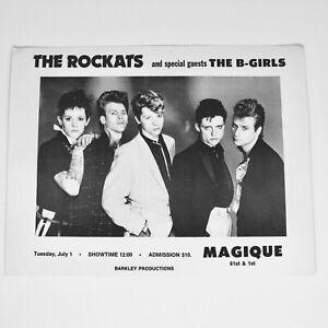 Magique NYC The Rockats Concert Promo Flyer Invite Disco Night Club July 1980's