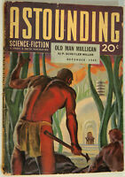 Astounding Science Fiction Pulp, Dec 1940, Slan by A. E. van Vogt, Bond, de Camp