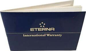 Eterna Watch Warranty Blank Guarantee & Instruction Booklet