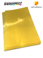 20 Sheets Metalic silky Gold Self Adhesive Sticky Sticker Labels Paper PET film