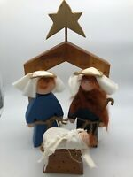 Nativity Set Wooden Handmade Creche Christmas