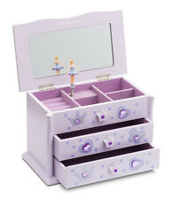 Girls Lilac Ballet Dance Wooden Music Jewellery Box By Katz Dancewear JB-02