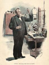 Chemiker, Kammersänger, Albert Niemann, Original-Farbholzstich von ca. 1890