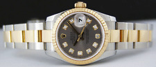 ROLEX - Ladies DateJust 18kt Gold & SS DIAMOND - 179173 SANT BLANC