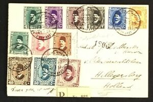 EGYPT 1935- PPC -(SIMON ARZT) -REGISTERED TO HOLLAND --F/VF