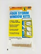 Frost King Pack of 4 Storm Window Kits  3' Wide X 6' High Four Pack Insulation