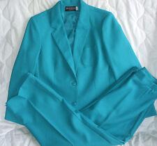 12 Haberdashery Suit Jacket Blazer Pants Woman Career Business Aqua Green
