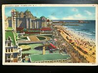 Vintage Postcard>1937>Boardwalk Scene>Atlantic City>N.J.