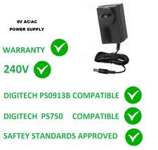 9V AC FOR DIGITECH JAMMAN DELAY JAM MAN EFFECTS PEDAL 9 VOLT POWER SUPPLY 240V