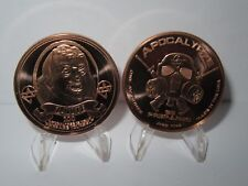 Ben Franklin Z-Note Copper Round Apocalypze Zombie - Lot of 2 Copper Rounds .999