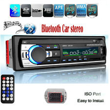 Car Stereo Audio BT In-Dash FM Aux Input Receiver SD USB MP3 Radio Player 1 Din