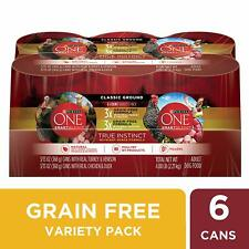 Purina ONE Smartblend True Instinct Grain-Free Adult Wet Dog Food - 6 Cans