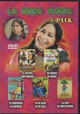 LA INDIA MARIA DVD 5 PELICULAS Hija Moctezuma La Ciguena Chana Coyote Ni de alla
