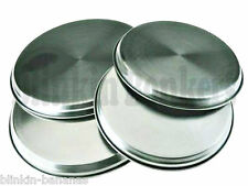 4 FOUR STAINLESS STEEL METAL SILVER CHROME ELECTRIC COOKER HOB RING COVER LID