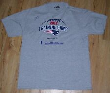 New England Patriots 2012 Team Training Camp T Shirt men's size-Large #10 AUTO