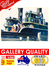 NEW Edward Hopper, Two Trawlers, 1923, Ashcan, Giclee Art Print or Canvas