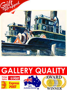 NEW Edward Hopper, Two Trawlers, 1923, Ashcan, Giclee Art Print or Canvas