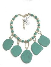 CHICO'S GREEN STONE BIB NECKLACE--NEW WITH TAG
