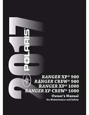 Polaris Owners Manual Book 2017 RANGER XP 900