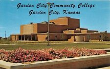 GARDEN CITY KANSAS~GARDEN CITY COMMUNITY COLLEGE~FINE ARTS BLDG POSTCARD 1960s