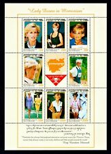 Cambodia #1685 a-h Mint Sheet of 8 Lady Diana in Memoriam Stamps