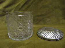Boite cristal baccarat argent anglais 925 (crystal & sterling silver box)