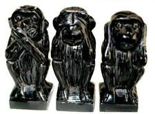 Figuras negros de piedra para el hogar