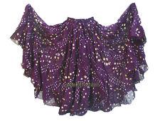 Cotton Tribal 25 Yard 4 Tier Gypsy Skirt BellyDance Jupe Tie & Dye Polka Dot NEW