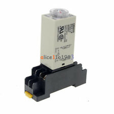 DC 12V 5A 8 Pins DPDT H3Y-2 0-30 Seconds Timer Time Relay Delay with Base