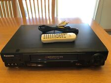 New listing Panasonic Pv-9664 Vcr DynAmorphous Metal Head Tested/Working W/Remote And Cables