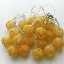 3M 20 LED Yellow lantern Ball LED String Christmas Wedding Party Fairy Lights
