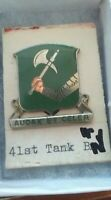 41st Armor Tank Battalion Pin Crest DI DUI MS Meyer