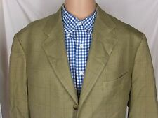 Corneliani Silk Wool Sport Coat Blazer Brown Check Italy 54 44 R Jacket