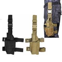 Tactical Military Airsoft Pistol Gun Drop Leg Thigh Holster Pouch Bag Left Hand