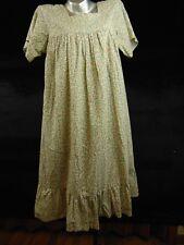 Vintage Handmade Womens Night Dress Floral Short Sleeve Size Small/Medium