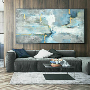 Large Wall decor art canvas Concise abstract Hand-painted oil painting 59''
