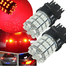 2X T25 3157 Red 54LED 3528smd Brake Stop Turn Sinal Tail Light Bulb Lamp DC 12V