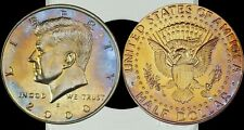 2000-S Kennedy Half Dollar Proof Coin  Blue/Gold Toned