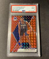 2019-20 Panini Mosaic RC Rookie Red Mosaic Prizm Zion Williamson PELICANS PSA 9