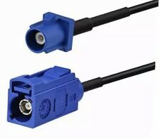 10 FT fakra blue c male to fakra blue c female gps antenna extension cable rg174