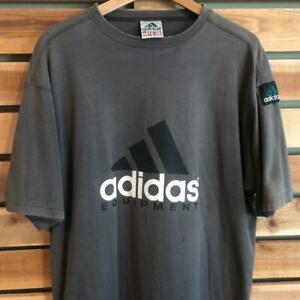 VTG 90s Gray Adidas Equipment T Shirt L